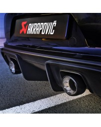 Akrapovic 2020+ Porsche Cayman GT4 (718) Tail Pipe Set (Black Coated Titanium)