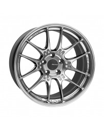 Enkei GTC02 18x9.5 5x114.3 15mm Offset 75mm Bore Hyper Silver Wheel