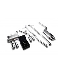ARMYTRIX Stainless Steel Valvetronic Catback Exhaust System Quad Chrome Silver Tips BMW 520i 528i F10 N20B20 2011-2019