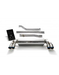 ARMYTRIX Stainless Steel Valvetronic Catback Exhaust System Quad Blue Coated Tips BMW 550i G30 G31 2017-2020
