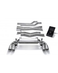 ARMYTRIX Stainless Steel Valvetronic Catback Exhaust Quad Chrome Silver Tips BMW M5 F90 2018-2020