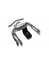 ARMYTRIX Stainless Steel Valvetronic Catback Exhaust System Quad Chrome Silver Tips Audi S3 8V Sedan 2.0 Turbo 13-20