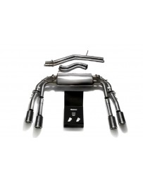 ARMYTRIX Stainless Steel Valvetronic Catback Exhaust System Quad Carbon Tips Audi S3 8V Sedan 2.0 Turbo 13-20
