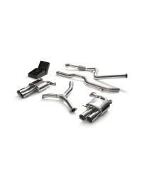ARMYTRIX Stainless Steel Valvetronic Catback Exhaust System Quad Chrome Silver Tips Audi A5 Coupe 4WD B9 2016-2020
