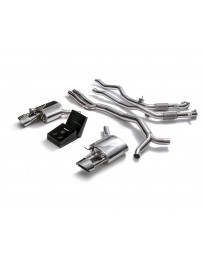 ARMYTRIX Stainless Steel Valvetronic High-Flow Catback Exhaust System w/Dual Chrome Silver Tips Audi RS5 B9 2D 17-20