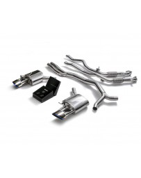 ARMYTRIX Stainless Steel Valvetronic Ceramic Coated Sport Catback Exhaust System w/Dual Blue Coated Tips Audi RS5 B9 2D