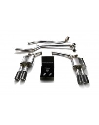 ARMYTRIX Stainless Steel Valvetronic Catback Exhaust System Quad Carbon Tips Audi A4 A5 B8 2008-2020