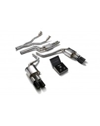 ARMYTRIX Stainless Steel Valvetronic Catback Exhaust System Quad Matte Black Tips Audi A4/A5 S4/S5 3.0L TFSI 2009-2015