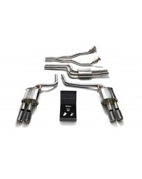 ARMYTRIX Stainless Steel Valvetronic Catback Exhaust System Quad Matte Black Tips Audi A5/S5 Coupe Cabriolet B8 3.0 08-16