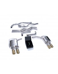 ARMYTRIX Stainless Steel Valvetronic Exhaust System w/Quad Gold Tips Audi A7 C8 2018+