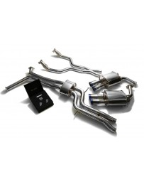ARMYTRIX Stainless Steel Valvetronic Catback Exhaust System Quad Blue Coated Tips Audi A6 A7 C7 3.0 TFSI V6 2011-2021