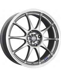 nkei J10 17x7 4x100/114.3 42mm Offset 72.62mm Bore Dia Silver with Machined Lip Wheel