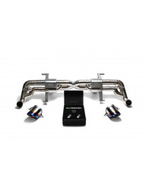ARMYTRIX Titanium Valvetronic Exhaust System Dual Titanium Blue Tips Audi R8 V8 4.2L FSI 2014-2015