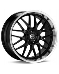 Enkei Lusso 18x8 45mm Offset 5x112 Bolt Pattern 72.6 Bore Black w/ Machined Lip Wheel