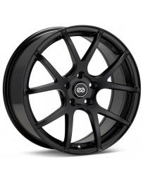 Enkei M52 17x7.5 42mm Offset 4x100 Bolt Pattern 72.6mm Bore Dia Matte Black Wheel