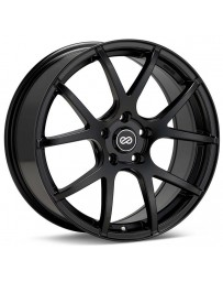 Enkei M52 17x7.5 45mm Offset 5x100 Bolt Pattern 72.6mm Bore Dia Matte Black Wheel