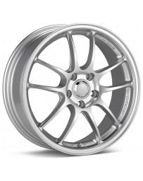 Enkei PF01SS 17x9 5x114.3 60mm Offset 75mm Bore Diameter Silver Wheel
