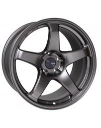Enkei PF05 17x9 5x100 40mm Offset 75mm Bore Dark Silver Wheel