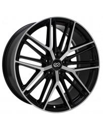 Enkei Phantom 18x8 5x120 40mm 72.6mm Bore Black Machined Wheel