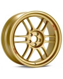 Enkei RPF1 17x8 5x114.3 45mm Offset 73mm Bore Gold Wheel 05-07 STI/06-10 Civic Si