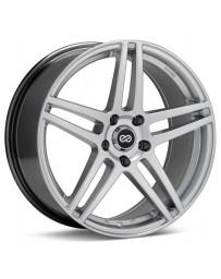 Enkei RSF5 18x8 40mm Offset 5x108 Bolt Pattern 72.6mm Bore Dia Hyper Silver Wheel