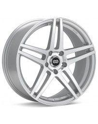 Enkei RSF5 18x8 40mm Offset 5x100 Bolt Pattern 72.6mm Bore Dia Silver Machined Wheel