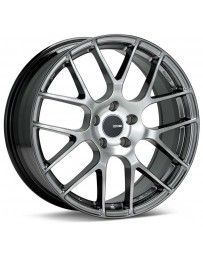 Enkei Raijin 18x8.5 42mm Offset 5x112 Bolt Pattern 72.6 Bore Diameter Hyper Silver Wheel