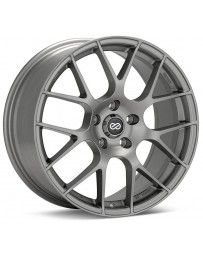 Enkei Raijin 18x8.5 38mm Offset 5x120 Bolt Pattern 72.6 Bore Dia Titanium Gray Wheel *Min Qty 60*