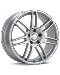 Enkei SC05 18x8 35mm Offset 5x100 Bolt Pattern 75mm Bore Dia Silver Wheel