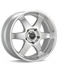 Enkei ST6 18 x 8.5 10mm Offset 6x139.7 Bolt Pattern 108.5 Bore Dia Silver Machined Wheel