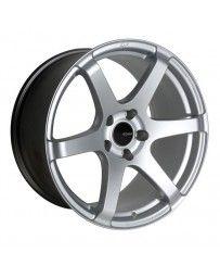 Enkei T6S 17x8 45mm Offset 5x100 Bolt Pattern 72.6 Bore Matte Silver Wheel