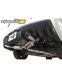 GReddy EVOlution GT 3 Stainless Steel Duel Muffler Catback Exhaust System Mitsubishi EVO X 08-15