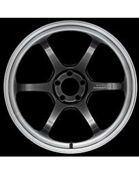 Advan Racing R6 18x7.5 +47 5-114.3 Machining & Racing Hyper Black Wheel