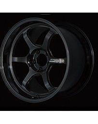 Advan Racing R6 18x7.5 +47 5-114.3 Racing Titanium Black Wheel