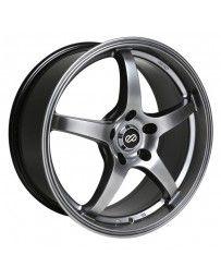 Enkei VR5 17x8 38mm Offset 5x108 Bolt Pattern 72.6mm Bore Dia Hyper Black Wheel