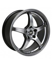 Enkei VR5 18x8 42mm Offset 5x120 Bolt Pattern 72.6 Bore Dia Hyper Black Wheel