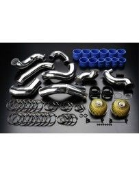 GReddy Twin Airinx AY-SB intake kit for stock frame twin turbos, with 70mm Airflow Meters