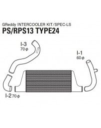 GReddy Type 24F Front Mount Intercooler Kit Nissan 180SX / 240SX S13 1989-1994