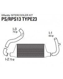 GReddy Type 23F Front Mount Intercooler Kit Nissan 240SX S13 1989-1994