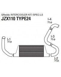 GReddy Type24E LS Intercooler Kit Toyota Mark II JZX110