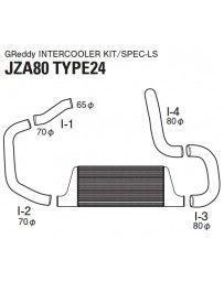 GReddy Type 24 Spec-LS Front Mount Intercooler Kit Toyota Supra 1993-2002