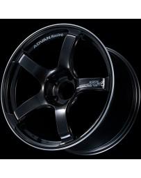 Advan Racing TC4 17X8.5 +50 5-114.3 Black Gunmetallic & Ring Wheel
