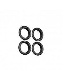 fifteen52 Holeshot RSR Center Ring - Corner Designation Set of Four - Black