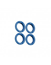 fifteen52 Holeshot RSR Center Ring - Corner Designation Set of Four - Blue