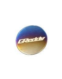 Greddy Burnt Ti Titanium Logo Emblem