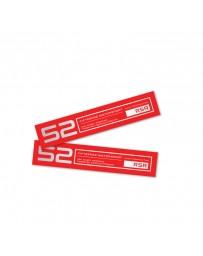 fifteen52 Holeshot RSR Wheel Lip Decal Set of Four - Red