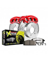 370z Z34 Power Stop 1-Click Street Warrior Z26 Drilled and Slotted Rear Brake Kit with Calipers 18-19