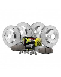 370z Z34 Power Stop 1-Click Street Warrior Z26 Drilled and Slotted Front and Rear Brake Kit