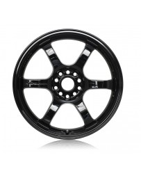 Gram Lights 57CR 17x9 +12 5x114.3 Gloss Black Wheel