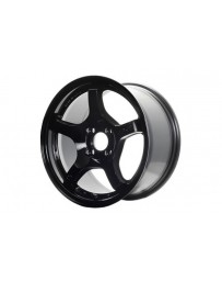 Gram Lights 57CR 18x9.5 +38 5x100 Glossy Black Wheel